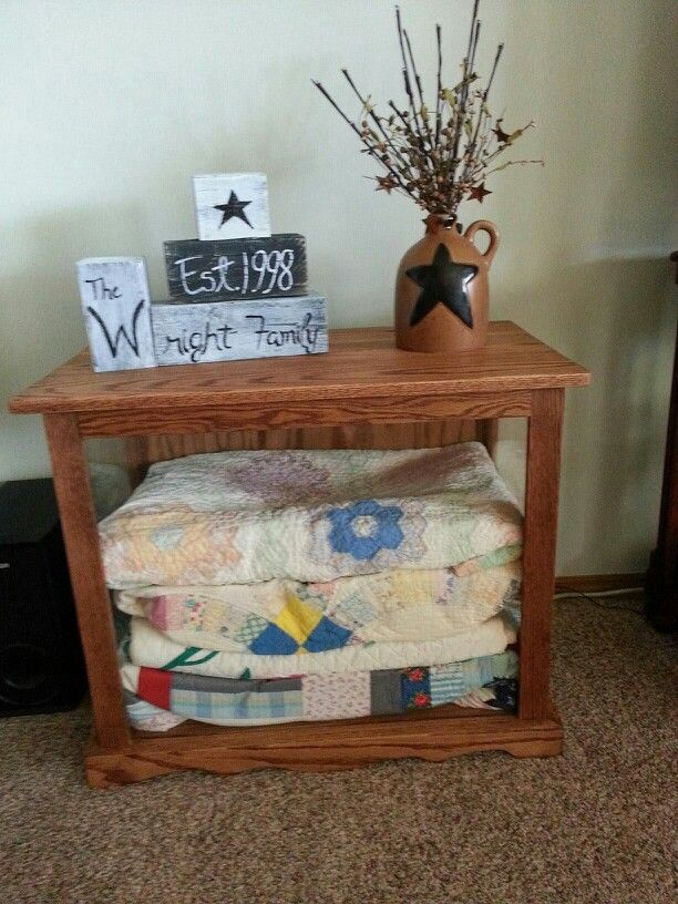 Oak Cabinet To Store And Display Quilts Kathi Kountry