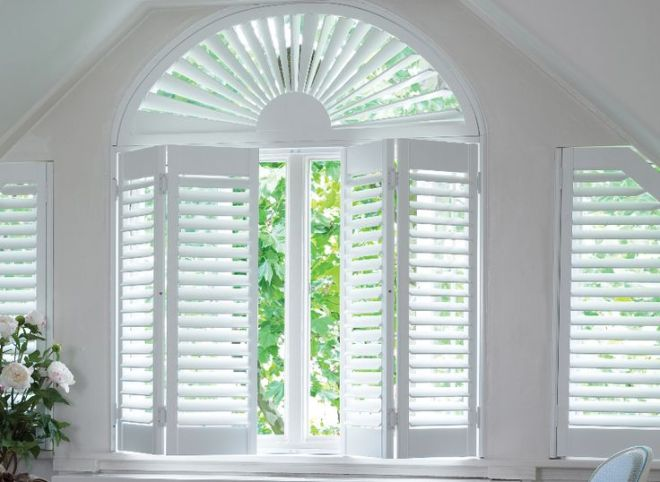 Made in the usa solid wood shutters black mountain