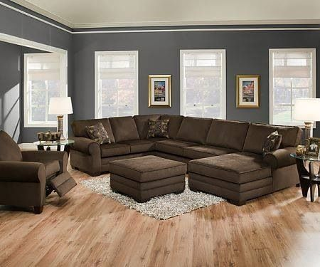 Justyna Teak Deluxe Brown U Shaped Sectional Sofa With