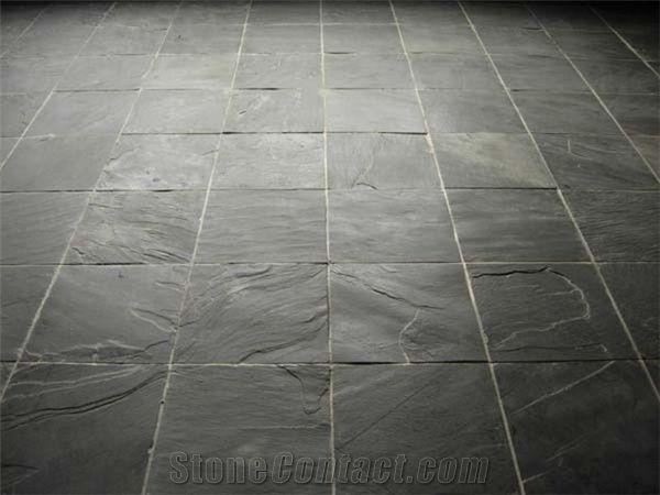 Flooring Rough Slate Tiles Riven Black Slate Tiles From