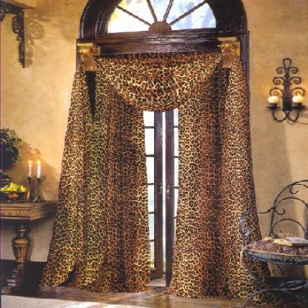 images of animal prints in the homes | Leopard Curtain Styles Design Ideas | MessageNote