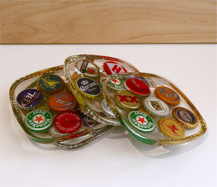 bottle cap crafts   … bottle caps I have lying around. Normally, I make them into coasters