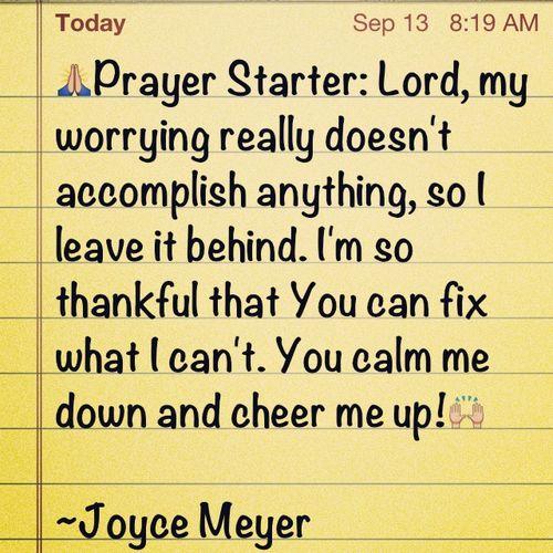 Study Joyce Meyer Notes