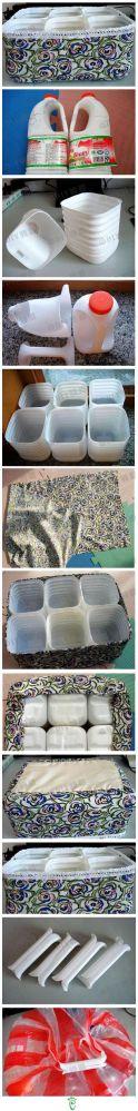 Reusing big plastic water/milk bottles/jugs (5/6)
