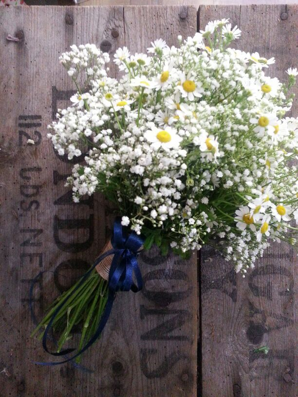 Bridesmaids Hand Tied Bouquet Of Delicate Gypsophila And
