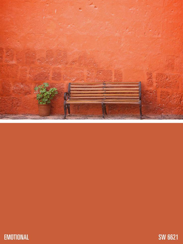 Sherwin Williams Orange Paint Color Emotional Sw 6621