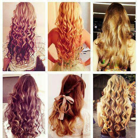 Long Curly Hair Different Kinds Of Color Different Kinds