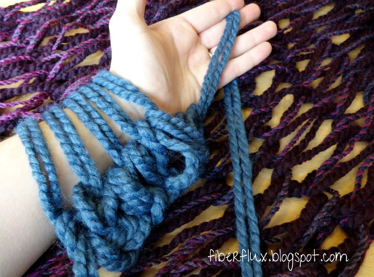 This is certainly the best I have seen for arm knitting instructions. She is slow and thorough and close enough to see how to do