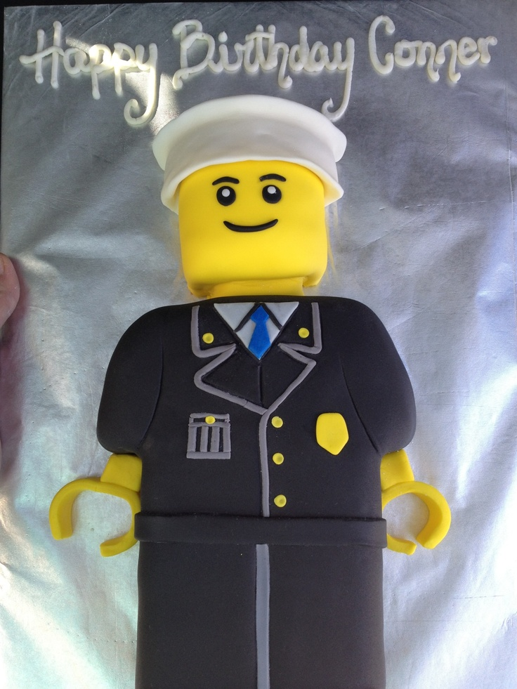 Lego Policeman Cake Oh My Gorgeous Cakes By Me