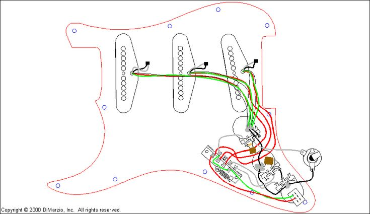 Diagram Dimarzio Wiring Diagram Colors Free Electrical Wiring