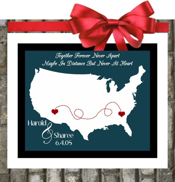 Long Distance Friendship Quotes Map Relationship Gift