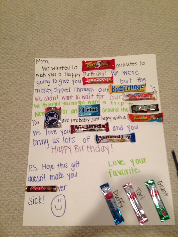 Candy Card For Mom AWESOME IDEAS Pinterest Mom