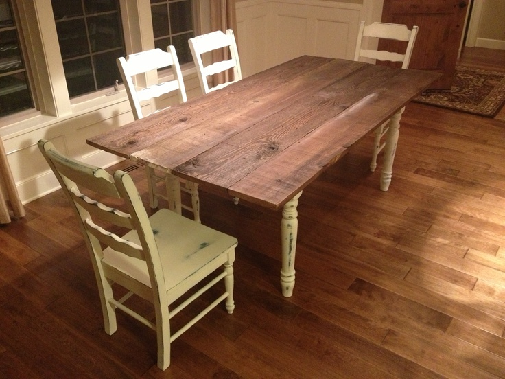 Hand Made French Countryside Dining Table With Chairs