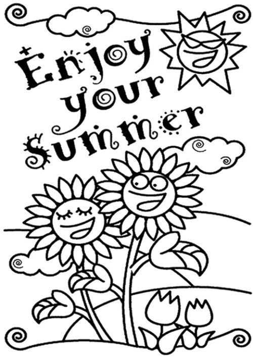 Coloring Coloring Pages And Summer On Pinterest