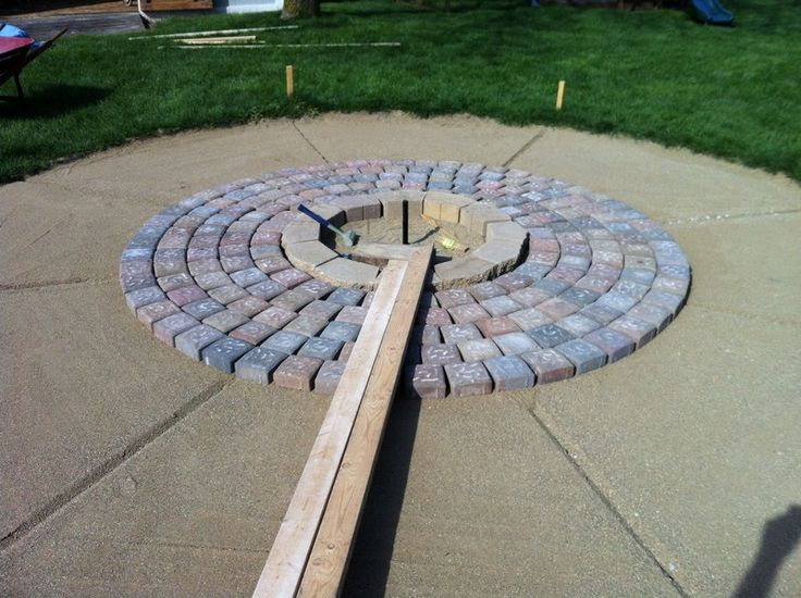 12 best images about Paver Fire Pits on Pinterest   Fire ... on Paver Patio With Fire Pit Ideas id=22274