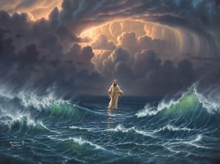 Image result for jesus pulling peter out of water