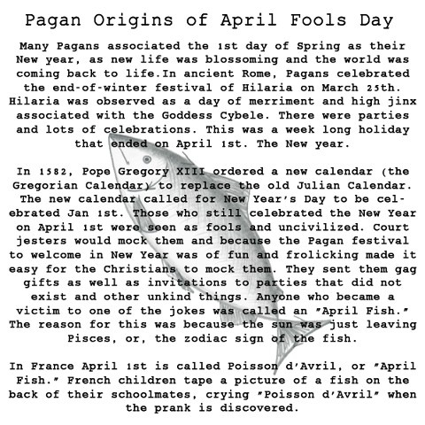 April Fool's Day has pagan origins | Spring Equinox/Ostara ...