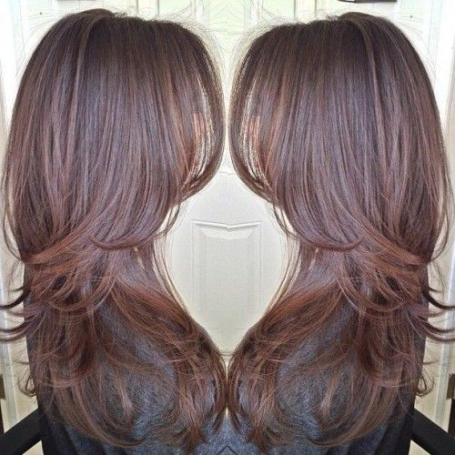 Classy long layered hairsty