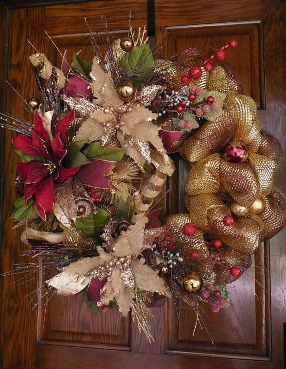 1000 Ideas About Christmas Mesh Wreaths On Pinterest