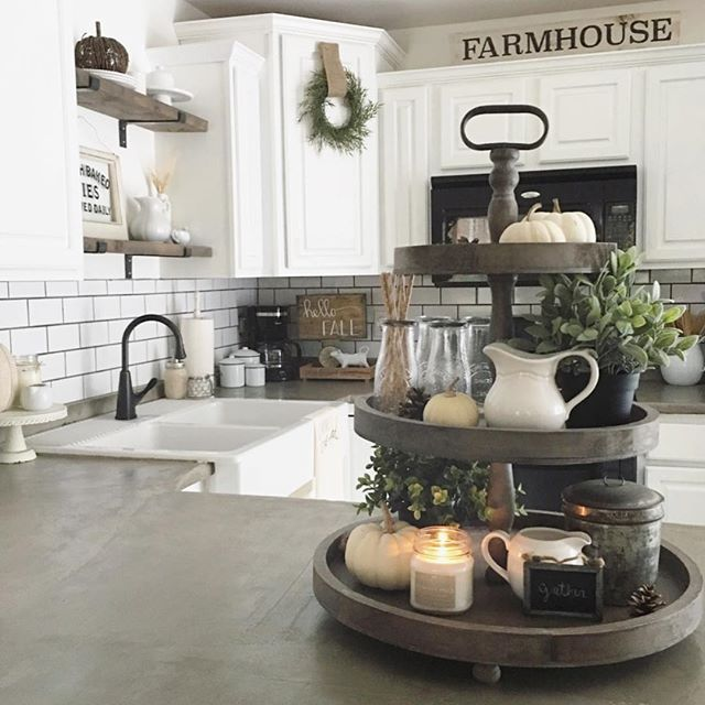 17 Best images about Kitchen Island Decorating on Pinterest on Farmhouse Kitchen Counter Decor Ideas  id=47857