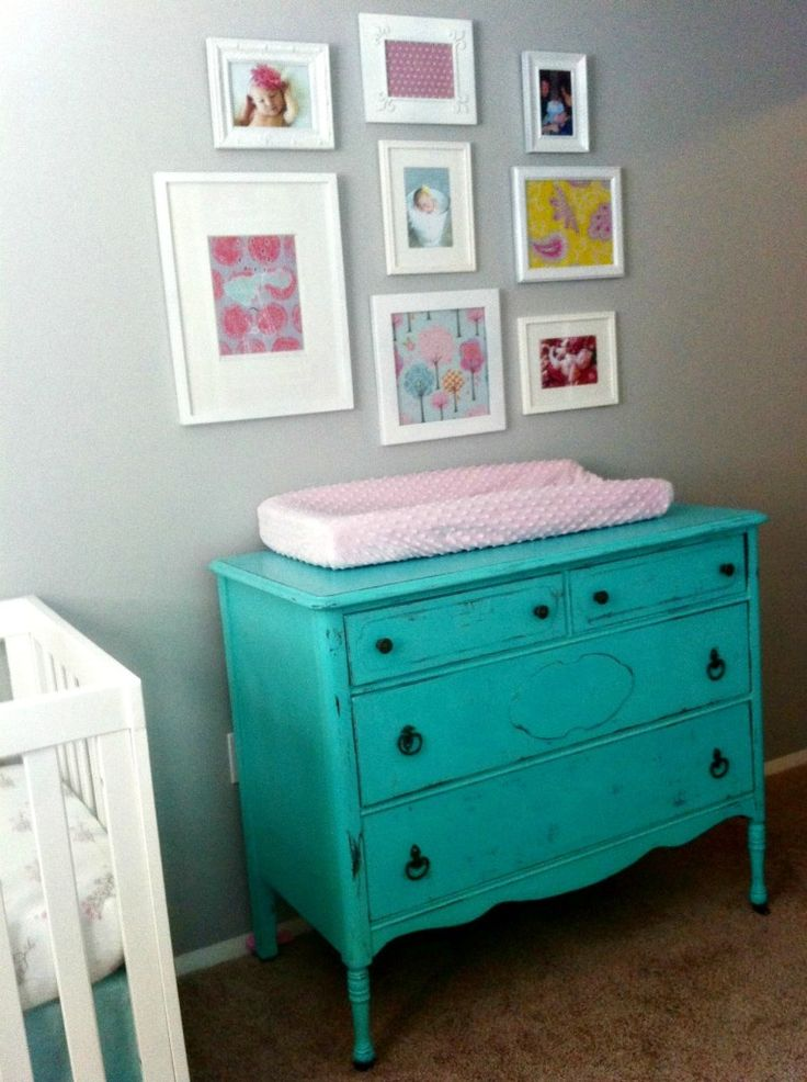 Emersons Yellow Aqua And Pink Nursery Turquoise Girls And Tables