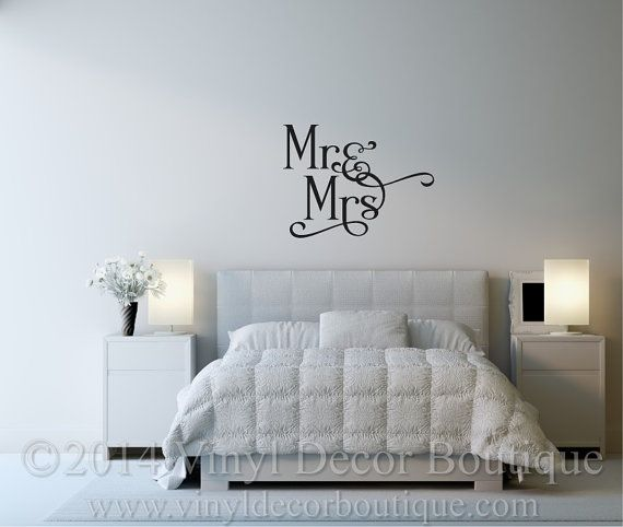Mr Mrs Vnyl Wall Decal Quote
