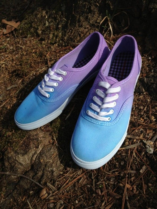 Diy Ombr 233 Canvas Shoes 20 Diy Makeover Sneakers Ideas