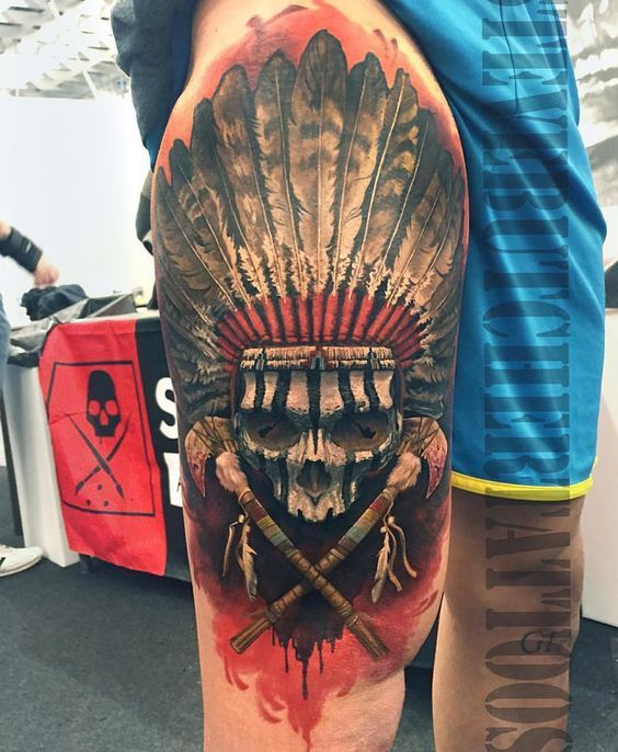 Skull Pages Indian Headdress Coloring