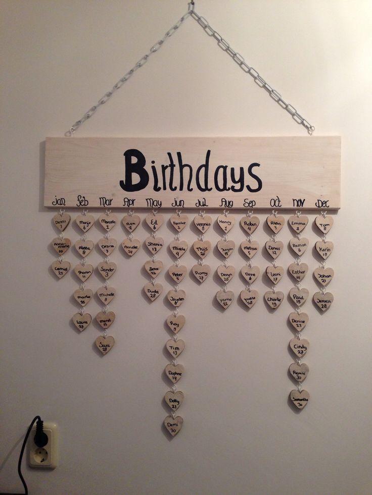 Happy Met Onze Verjaardagskalender Crea Pinterest