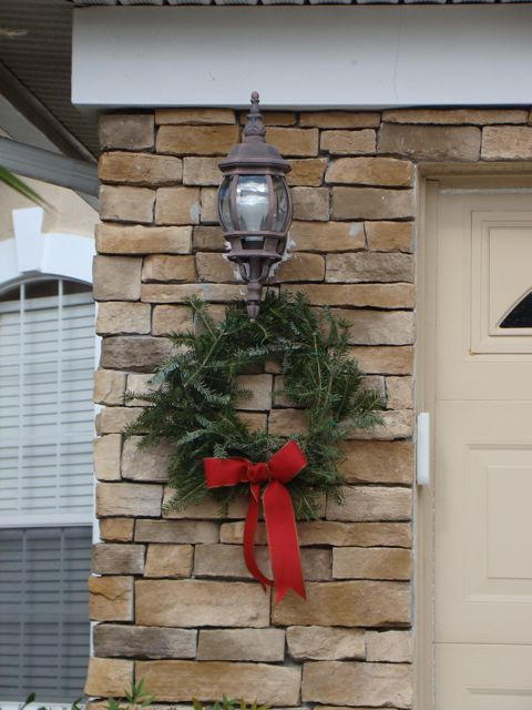 Christmas Wreath Outdoor Using Free Tree Trimmings From