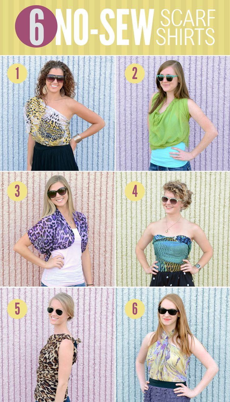 6 ways to diy a scarf into a shirt no sewing required