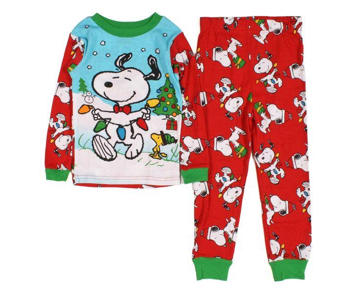 Peanuts Snoopy Baby Toddler Christmas Cotton Pajamas 3T