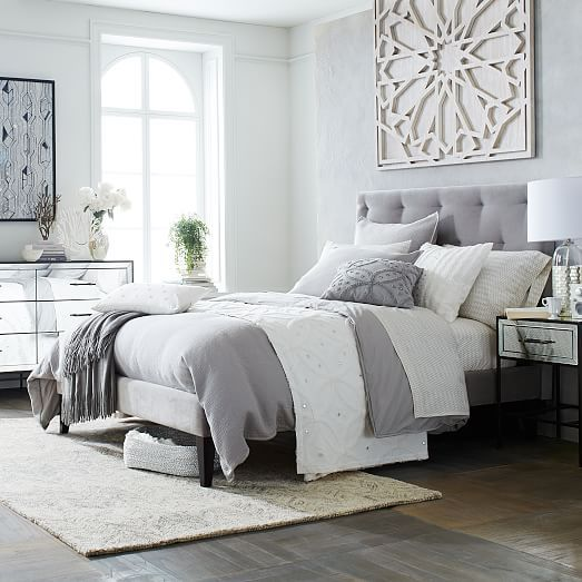 25 Best Ideas About Gray Headboard On Pinterest Grey Bed Blue And Bedding
