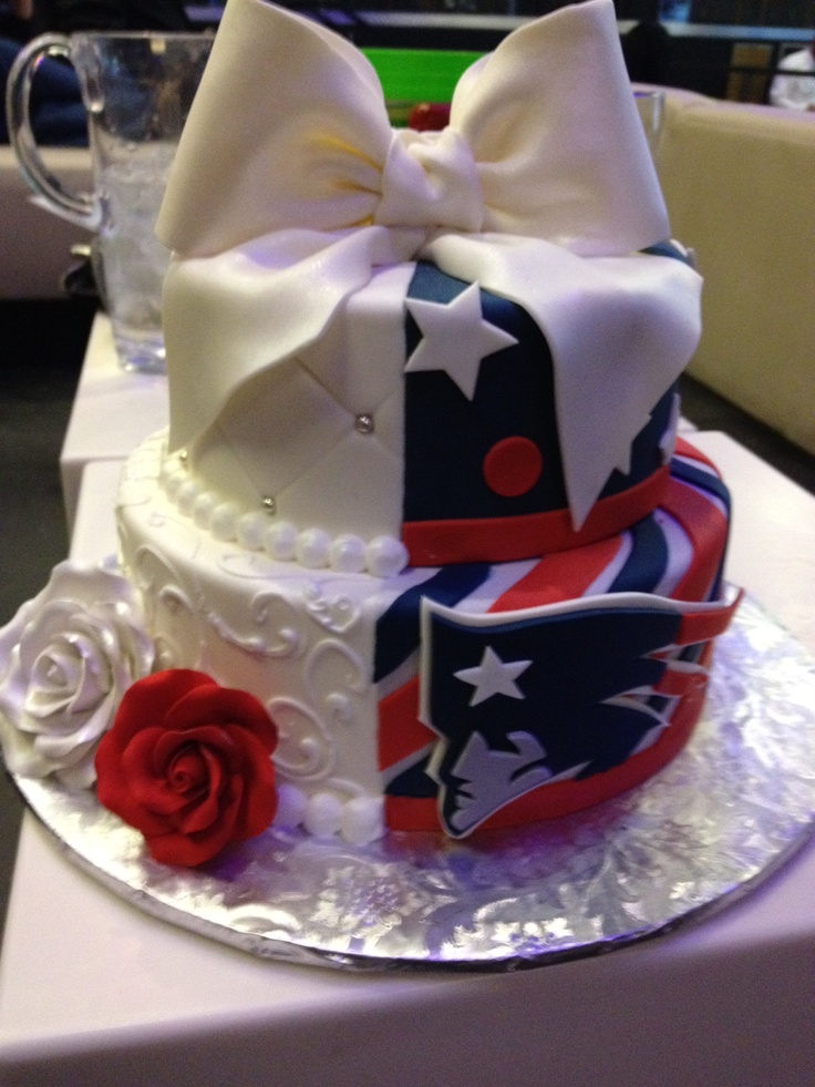 Our Patriots Themed Wedding Cake Acre N Adrian Married In