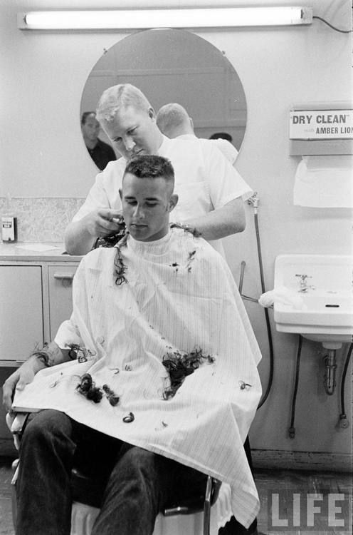 US Sea Scouts At A Marine Boot Camp Cool Barber Shops
