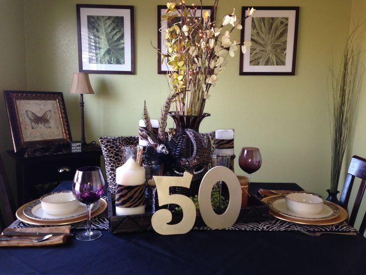Happy 50th Birthday Cougar Leopard Animal Print Mardi