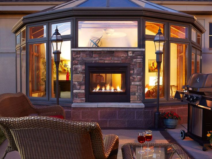25+ Best Ideas About Indoor Outdoor Fireplaces On