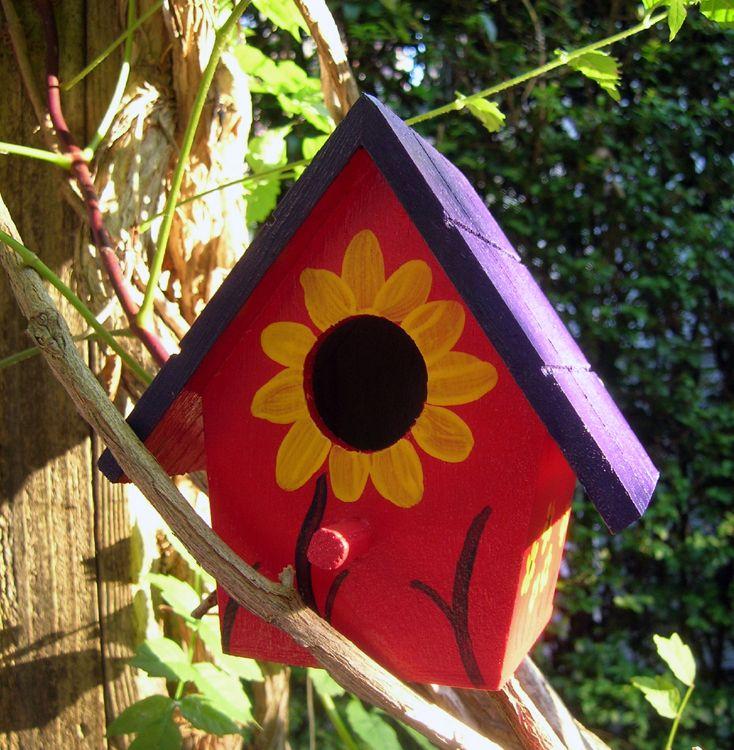 Painted Birdhouse Gardens Pinterest Painted