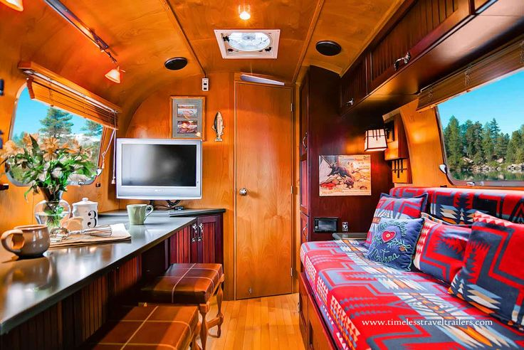 Rustic Themed Airstream Filled With All The Modern Day