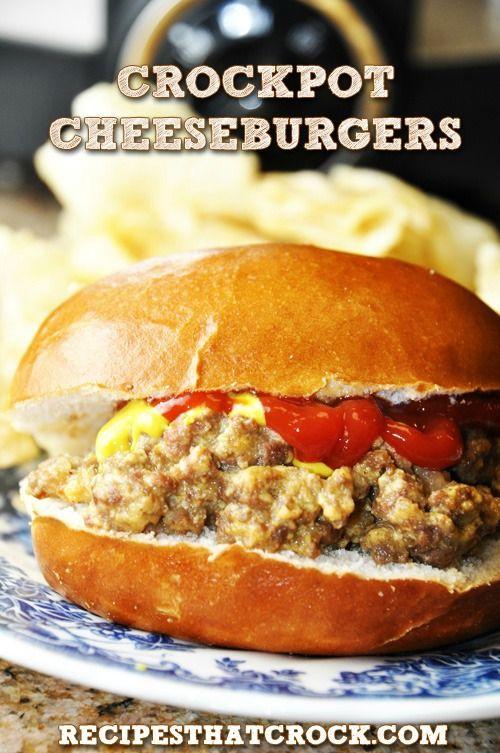 Easy Crock Pot Cheeseburger Sandwiches! Taste like White Castles. #CrockPot #Slo