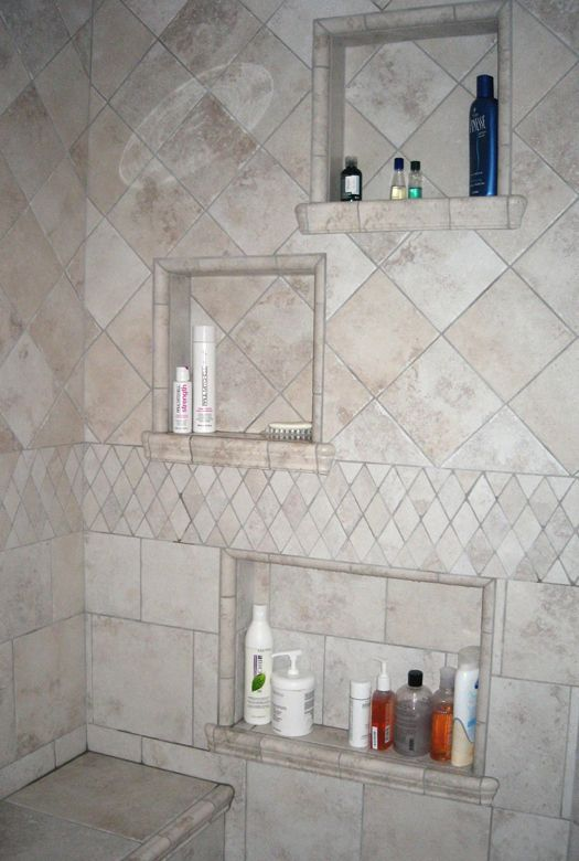Steam Shower Built In Shelves Im Going To Have Bobby Do This With Our Master Bath Renovation