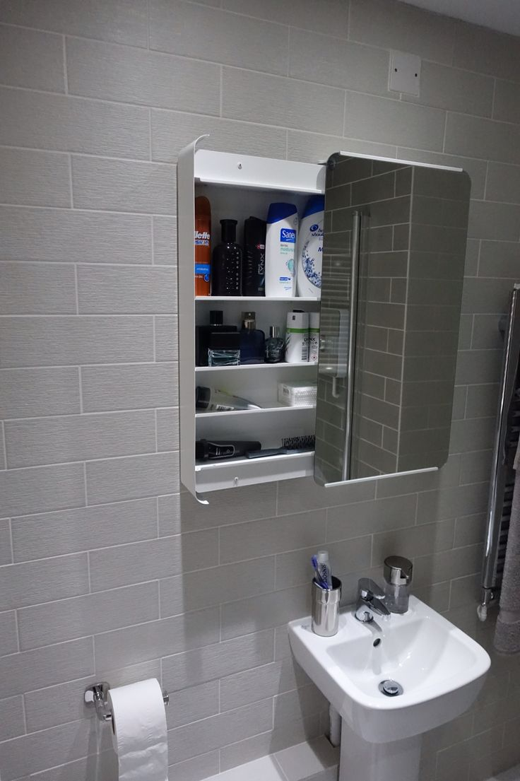 The Bathroom Cabinet Was Purchased From Ikea Brickan