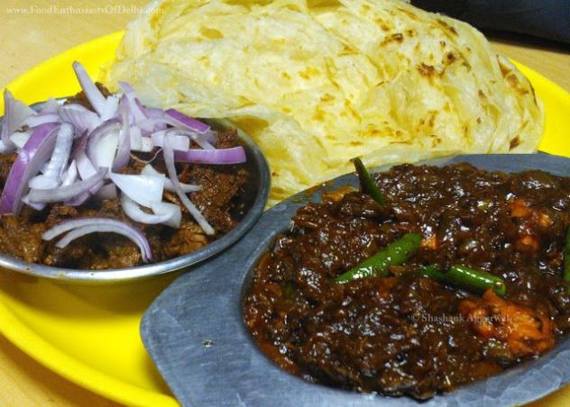 Image result for Malabar Parotta with kerala beef curry