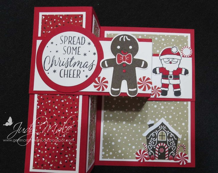 Stampin Up Cookie Cutter Christmas Bundle Candy Cane DSP