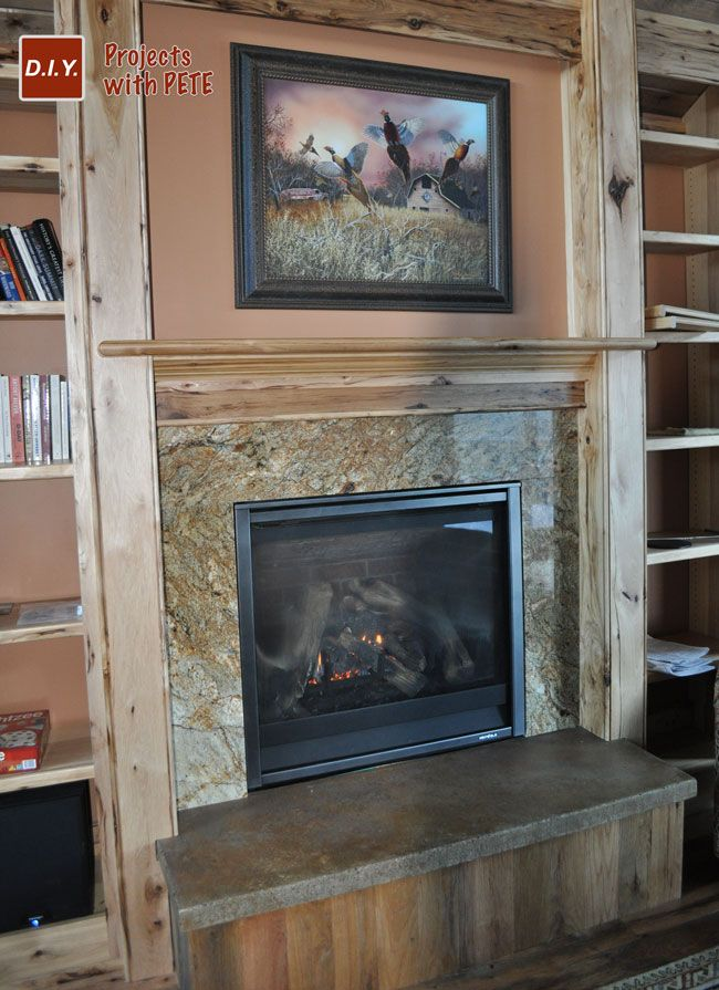 My Concrete Hearth With An Acid Stained Finish DIY Projects Pinterest Fireplace Hearth