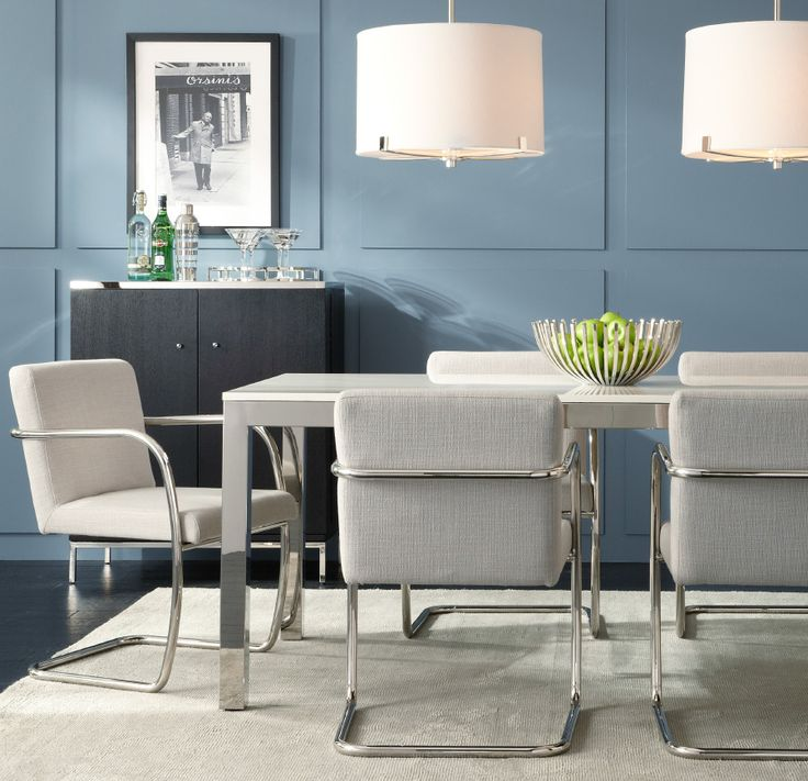 Love This White Quartz And Stainless Steel Parsons Table