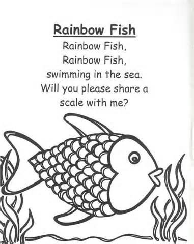 Rainbow fish | Rhymes and songs for children | Pinterest ...