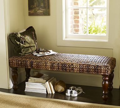 Seagrass Bench Havana Dark Potterybarn For The Home