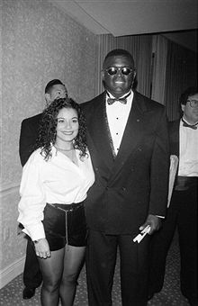 REBBIE JACKSON WITH HER HUSBAND NATHANIEL BROWN 1994