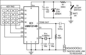 Keypad Control for Multiple Appliances  This circuit